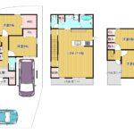 建物参考プラン図3階建(1,680万円)
